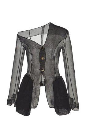 Cold-Shoulder Chiffon Jacket by A.W.A.K.E. MODE   Moda Operandi