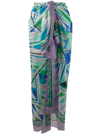 Emilio Pucci Abstract Print Scarf Aw20 | Farfetch.Com