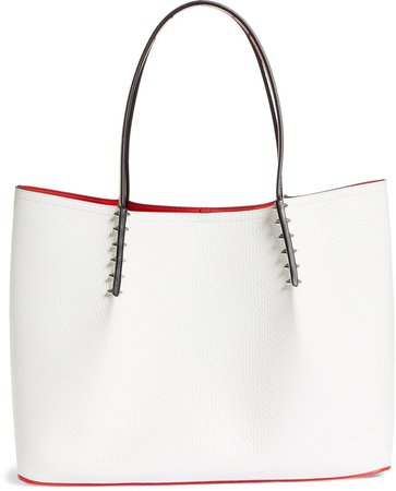 Large Cabarock Lizard Embossed Leather Tote