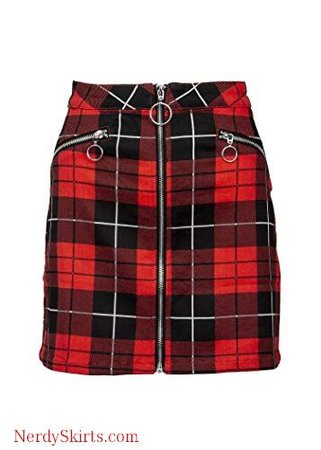 (17) Pinterest - Womens Red and Black Plaid Tartan Punk Rock Mini Skirt | Plaid Skirts