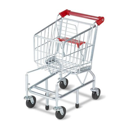 Shopping Cart Toy - Metal Grocery Wagon | Melissa & Doug