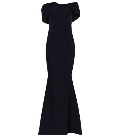 Safiyaa - Stretch-crêpe gown | Mytheresa