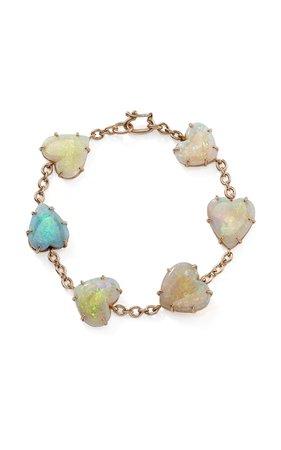 One-Of-A-Kind 18K Rose Gold Opal Hearts Bracelet by Irene Neuwirth | Moda Operandi