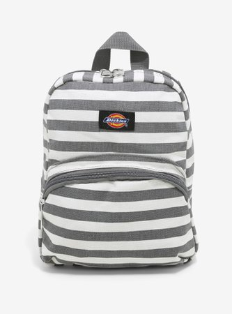 Dickies Grey & White Stripe Mini Backpack