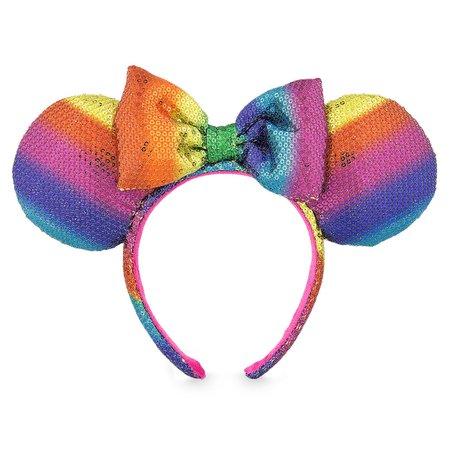 Minnie Mouse Ear Headband - Rainbow