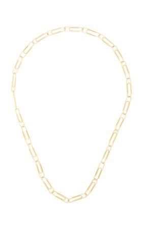 18K Gold Paper Clip Necklace by Nadine Ghosn   Moda Operandi