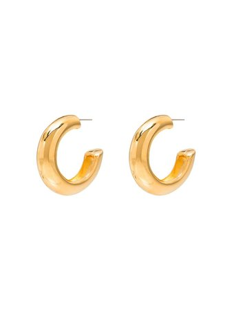 Kenneth Jay Lane Gold-Tone Hoop Earrings | Farfetch.com