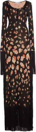 Paco Rabanne Floral-Print Jersey Dress