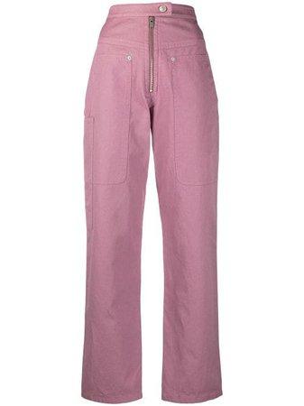Isabel Marant Étoile high-waist Straight Trousers - Farfetch