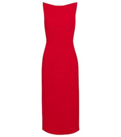 Alaïa - Jacquard stretch-knit midi dress | Mytheresa