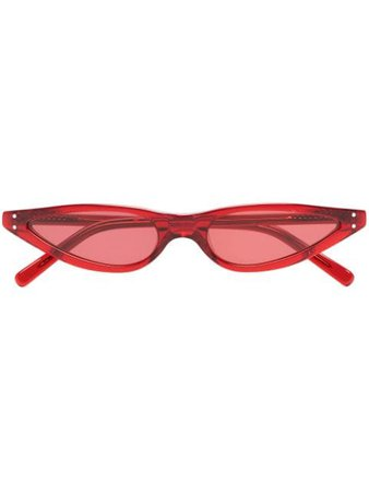 George Keburia Red Cat Eye Sunglasses GKS02 | Farfetch