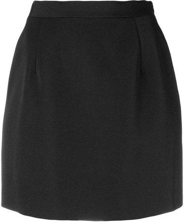 high waisted mini skirt