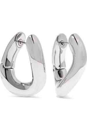 Balenciaga | Palladium-tone hoop earrings | NET-A-PORTER.COM