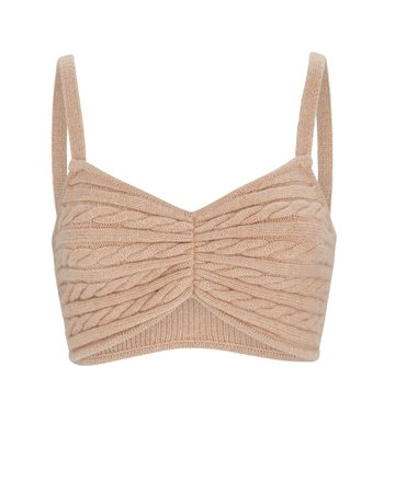 Ronny Kobo Emery Cable Knit Wool Bralette | INTERMIX®
