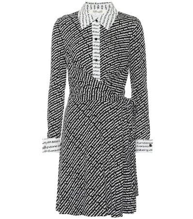 Didi printed silk jersey wrap dress