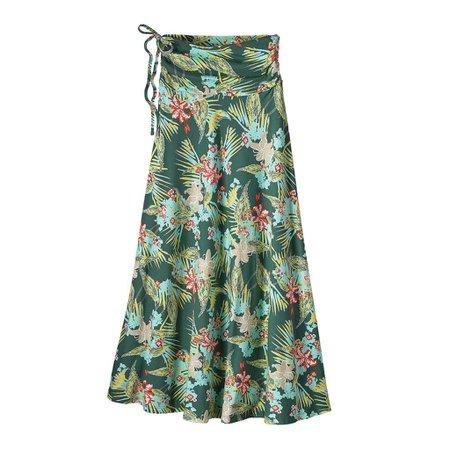 Kamala Maxi Skirt Kelp Garden: Gem Green