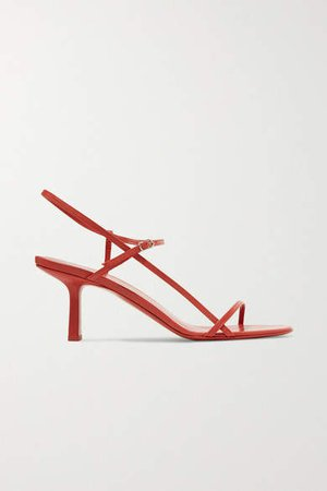 Bare Leather Sandals - Red
