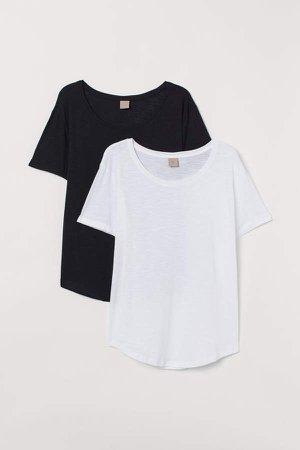 H&M+ 2-pack T-shirts - Black