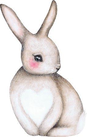 Kjøp That's Mine Wallsticker Sally The Shy Bunny Liten 2-pack | Jollyroom
