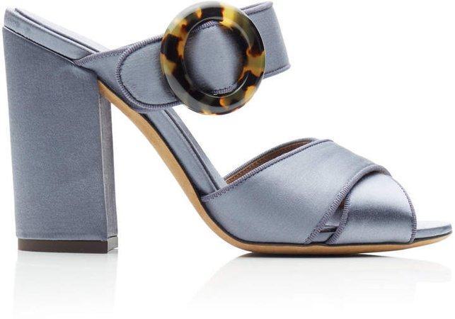 x Johanna Ortiz Satin Platform Sandals