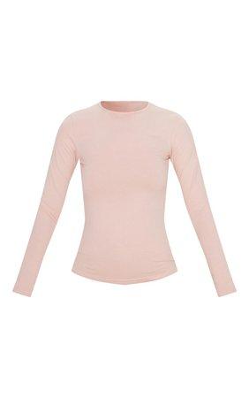 Khaki Cotton Long Sleeve Tshirt | Tops | PrettyLittleThing
