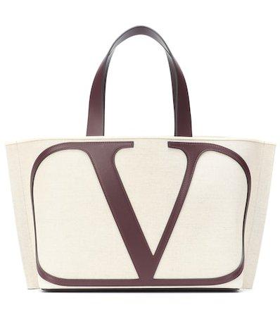 Valentino Garavani VLOGO Small canvas shopper