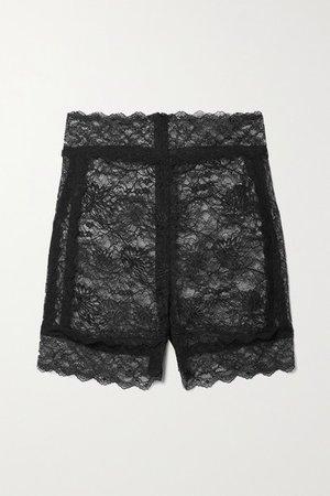 Stretch-lace Shorts - Black