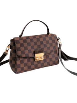 'Victoria' Canvas Checked Top Handle Bag (3 Colors) - Goodnight Macaroon