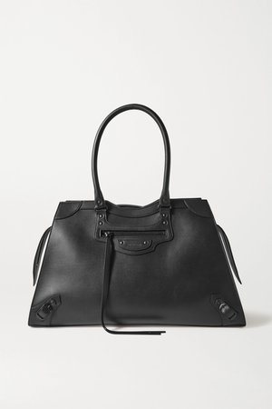 Black Classic City large leather tote | Balenciaga | NET-A-PORTER