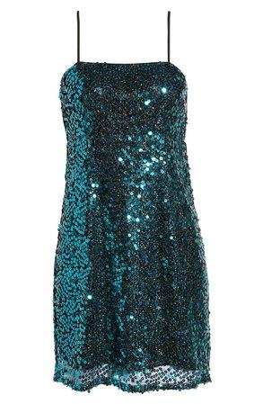 Leith Sequin Slip Minidress