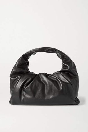 The Shoulder Pouch Leather Bag - Black