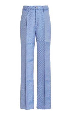 Robyn Jacquard-Woven Straight-Leg Trousers By Rotate   Moda Operandi