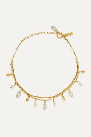 Gold Gold-plated Swarovski crystal bracelet | Chan Luu | NET-A-PORTER