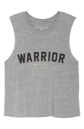 Spiritual Gangster Warrior Graphic Crop Tank | Nordstrom