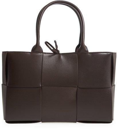 Arco Intrecciato Leather Tote