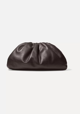 Brown The Pouch leather clutch | Bottega Veneta | NET-A-PORTER