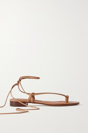 Ava Leather Sandals - Beige