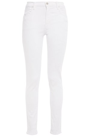White High-rise skinny jeans | Sale up to 70% off | THE OUTNET | J BRAND | THE OUTNET