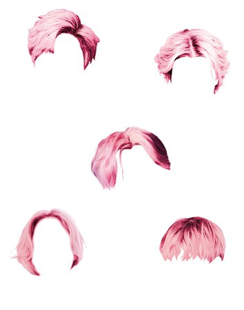 Males pink hair