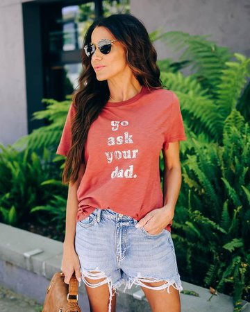 Go Ask Your Dad Tee - Sienna – VICI