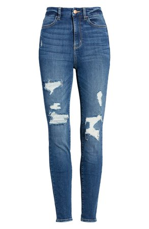 BP. High Waist Curvy Jeans (Dark Wash Decon)
