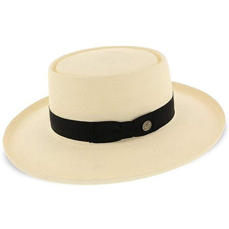 Stetson Colonel Straw Gambler Hat, Natural, 7 at Amazon Men's Clothing store