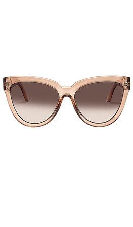 Le Specs Liar Liar Sunglasses in Nougat | REVOLVE