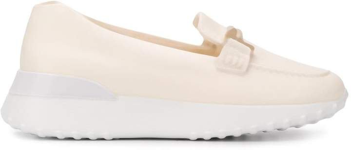Double T plaque loafers