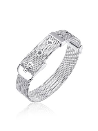 Buckle Design Metal Bangle
