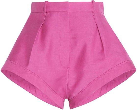 Rosa High-Waisted Wool Shorts