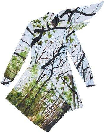 Acephala Asymmetric Printed Dress
