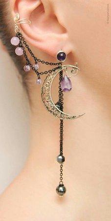 Moon Ear Cuff Earring