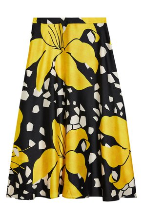 Topshop Boutique Lily Print Midi Skirt | Nordstrom
