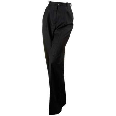 Chanel Women's Wool Pleated (24005) Trouser Pants